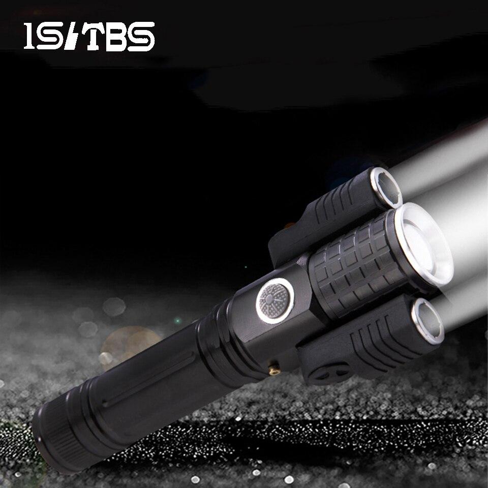 Светодиодный фонарик ультра яркий 3 света 4 модели фонарь T6 на открытом воздухе водонепроницаемый масштабируемый USB Перезаряжаемый 18650 аккумуляторный фонарь|Фонарики и осветительные приборы| | АлиЭкспресс