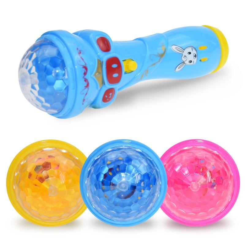 Flashing Projector Microphone Model Lighting Toys Wireless Music Karaoke Micro Kids Toy Gift Creative Funny Dynamic Shine New