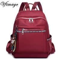 Vfemage nova moda feminina mochila oxford sacos do sexo feminino grande capacidade sacos de escola para meninas multifuction bagpack 2019 sac a dos
