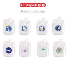 Mini Space Hot Soft ซิลิโคนสำหรับ Apple Airpods กันกระแทกสำหรับ Apple AirPod หูฟังสำหรับ Air Pods Protector กรณี(China)