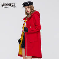 MIEGOFCE 2020 New Spring Windproof Designer Women Trench Warm Cotton Coat Spring Windbreaker