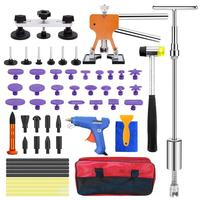 Paintless Dent Repair Remover Removal Tool Kit  Professional Hail Dent Lifter Bridge Puller T Puller Hot Glue Tap Down Kit|Hand Tool Sets|   -
