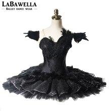 Profesjonalna baletowa spódniczka Tutu kobiety wydajność czarny łabędź Lake Guards YAGP balet kostiumy sceniczne konkursbt9125