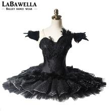 Professional Ballet Tutu Women Performance Black Swan Lake Guards YAGP Ballet Stage Costumes CompetitonsBT9125