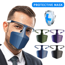 Fashionable Protective Isolation Mask, Anti-fog, Splash-proof, Anti-fog, Dust-isolated Face Shield Head-mounted head mounted welding helmet black against ultraviolet ray protective mask pc safety headgear face shield mask glasses