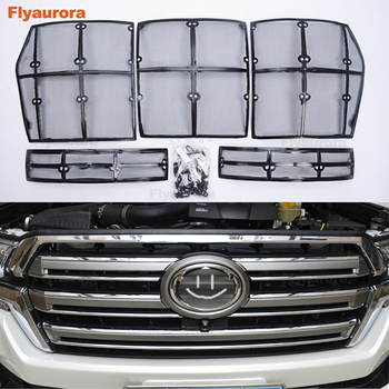 Car Insect Stainless Screening Mesh Front Grille Insert Net Accessories For Toyota Land Cruiser Prado 150 Highlander Crown Camry