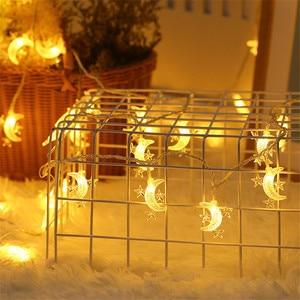 Image 5 - Wedding Decoration EID Mubarak Star Moon Led Lights Strip Decor EID Party Supplies Ramadan Muslim Islam Decor Party Favors,Q
