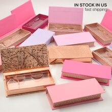 Wholesale Eyelash Packaging Box Lash Boxes Packaging Custom Caux Cils 3D Mink Eyelashes Package Storage Case Vendors Stock In US