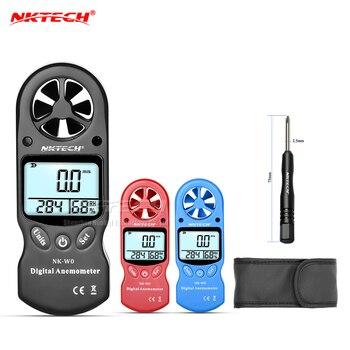 NKTECH NK-W0 Digital Anemometro Mini Portatile LCD Velocità Del Vento Tester Di Umidità Di Temperatura Con Multiuso Igrometro Termometro