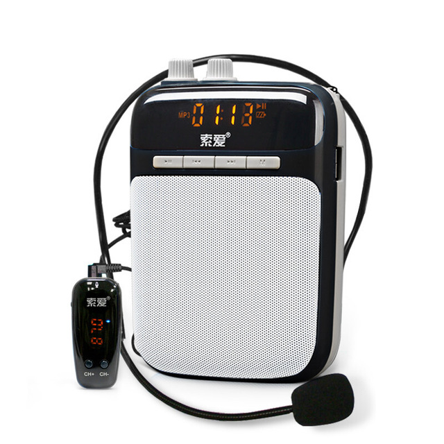 SOAIY S518 Mini Voice Amplifier Portable Wireless Megaphone Promotion Teaching Tour Guide Microphone Loudspeaker