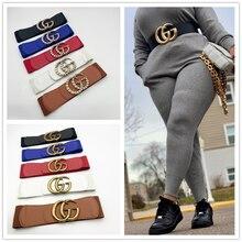 Cintura da donna di lusso con Design elastico gg da 7cm di lusso per fibbia di alta qualità Ceinture Femme Jeans abito regalo decorativo