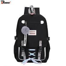 Usb рюкзак с защитой от кражи для девочек подростков нейлоновые