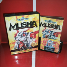 MD games card   MUSHA US Cover with Box and Manual For Sega Megadrive Genesis Video Game Console 16 bit MD card