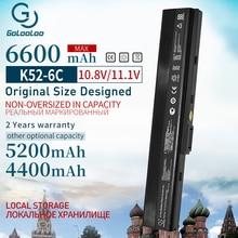 6600mAh סוללה למחשב נייד חדשה עבור Asus A31 K52 A32 K52 K52J K52DR K62 K62F K62JR N82 K52JC K52JE K52JK K52JR K52N k52D K52DE K52F