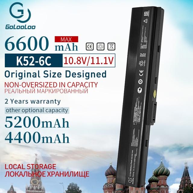 6600mAh Neue Laptop Batterie Für Asus A31 K52 A32 K52 K52J K52DR K62 K62F K62JR N82 K52JC K52JE K52JK K52JR K52N k52D K52DE K52F