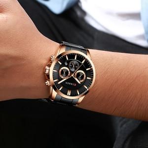 Image 4 - Reloj Hombres luksusowej marki CURREN kwarcowy z chronografem zegarki mężczyźni przyczynowy zegar pasek ze stali nierdzewnej Wrist Watch Auto data