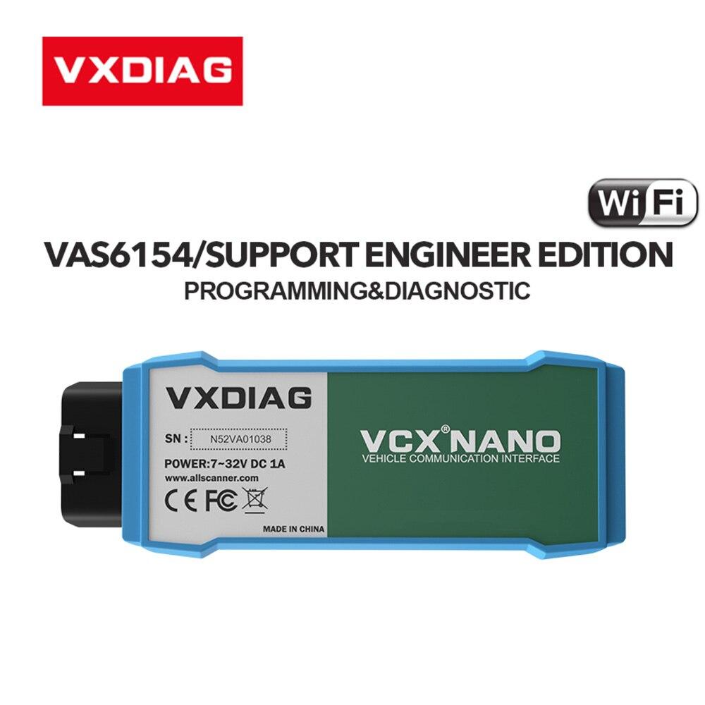 VXDIAG VCX NANO 6154 dla ODIS V5.1.6 V5.1.5 dla OBD2 WIFI narzędzie diagnostyczne do samochodów skaner motoryzacyjny 6154A dla Skoda dla audi
