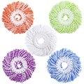 Сменные насадки для швабры из микрофибры и хлопка-5 упаковок  совместимые с 360 спиннингом  волшебные швабры-круглая форма  стандартный разме...