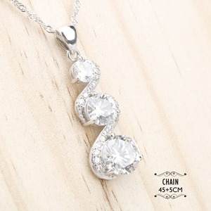 Image 3 - Женские Ювелирные наборы из серебра 925 пробы с белым цирконием, серьги с камнями, ожерелье, серьги, кольца, браслеты, подарочная коробка