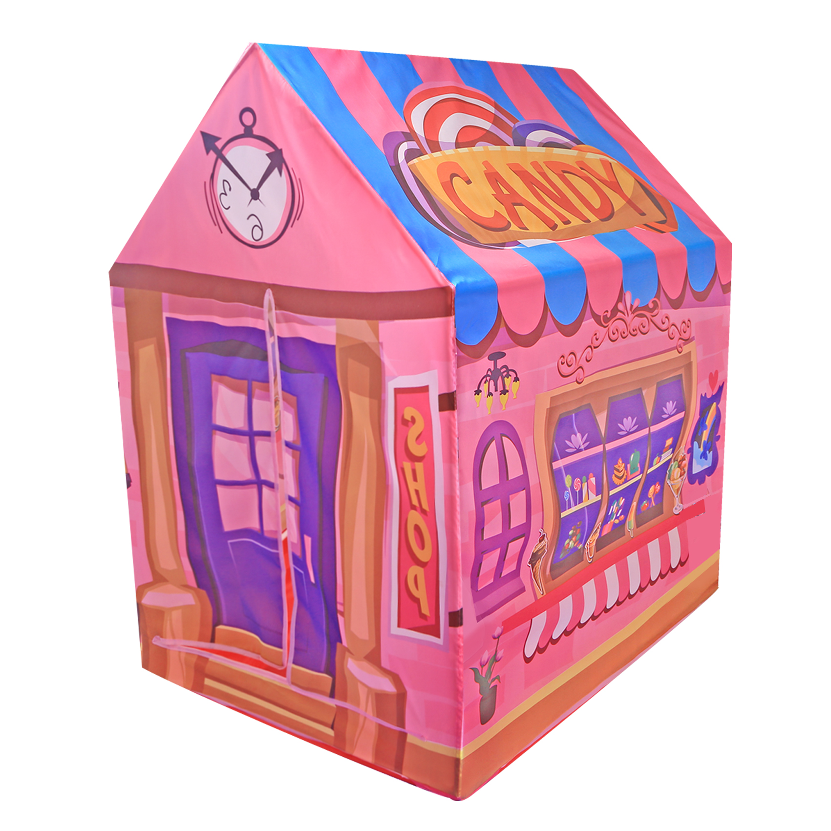 Pink Candy Shop Play Toy Tent Indoor Outdoor Garden Playhouse Foldable Large 40 Inch Play Tent Store for Baby Kids Toys Gift image