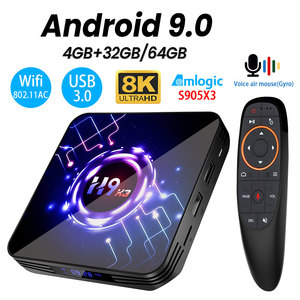 Transpeed H9 X3 Android 9.0 8K 4K TV BOX 4GB 64GB 32G UltraHD HDR 5G 1000M wifi Amlogic S905X3 Youtube Netflix very fast TV BOX(China)