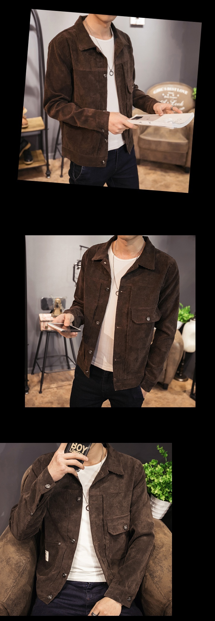 H7d6f8f8cad9f45e59d1b50c64b6d93a6E Zongke Japan Style Corduroy Jacket Men Hip Hop Streetwear Men Jacket Coat Windbreaker Clothes Bomber Jacket Men 5XL 2019 New