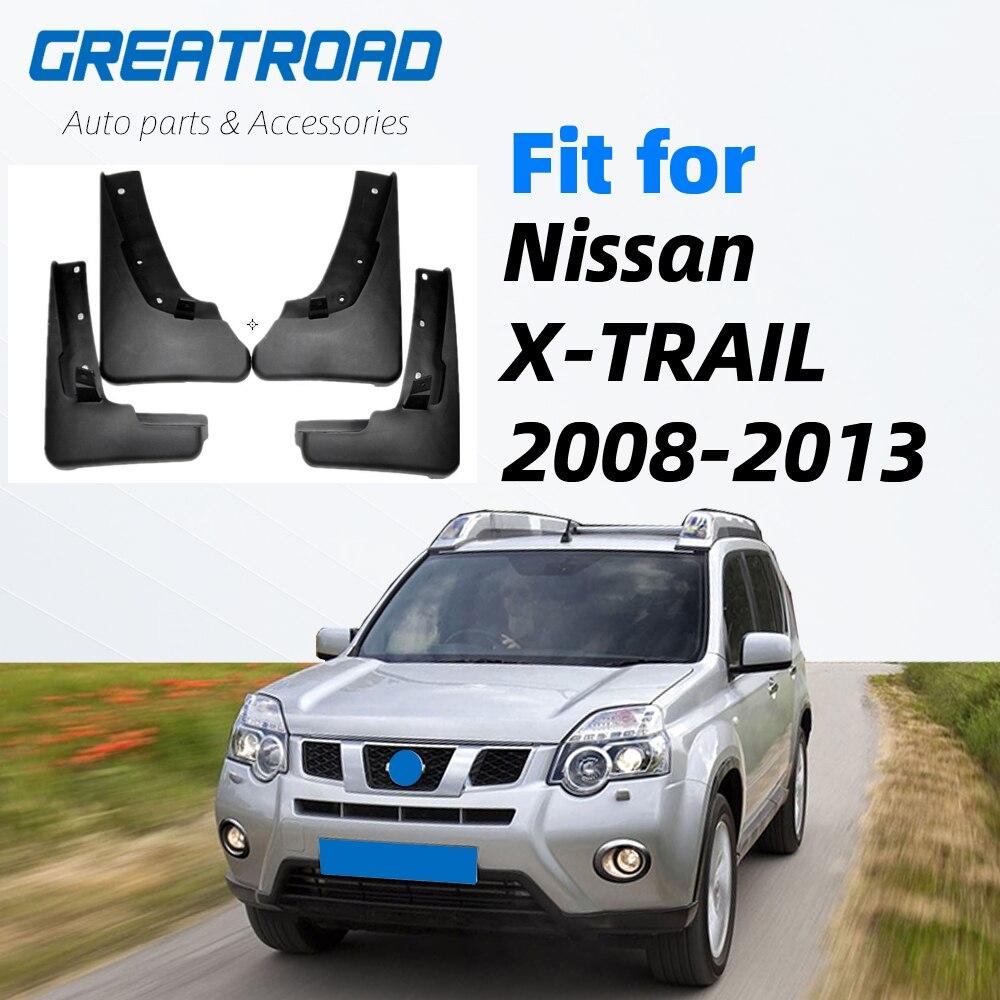 For Nissan X-Trail T31 2008-2013 Xtrail Splash Guards Mud Flap Mudguards Fender 2009 2010 2011 2012 Set Molded Car Mud Flaps