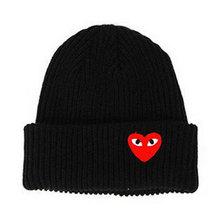 2019 Winter Woman Warm Hats Heart Eyes Cartoon Label Beanies Knit Hat Toucas Bon