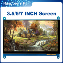 ITINIT R58 Raspberry Pi 4 Model 3B 3B+ Touch Screen 3.5/5/7 inch LCD Module Resistive/Capacitive Display Monitor Touch Panel