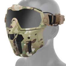 Military Airsoft Mask Detachable Goggles with Anti-fog Fan Tactical Paintball Protective Full Face Mask Shooting Goggles Masks