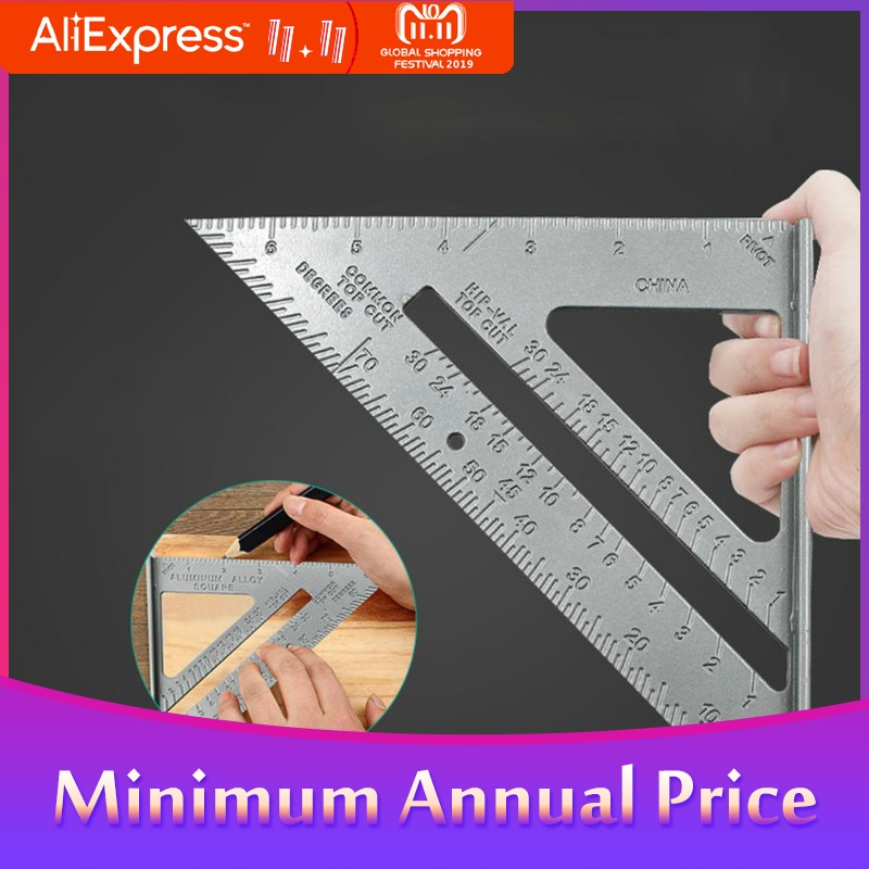 Triangle Rule 90 Degree Thickening Angle Rule Aluminum Alloy Carpenter Measurement Square Ruler