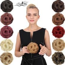 цена на XUANGUANG Nine flowers Hair Curly Chignon Hair Bun Clip In Hairpiece Women Synthetic High Temperature Fiber Chignon Extension