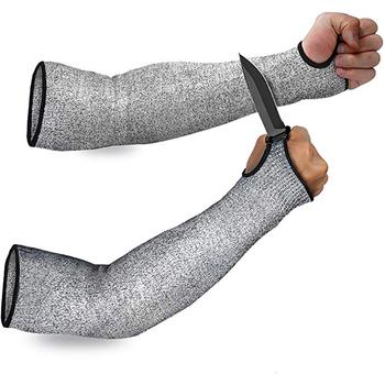 1 szt Ramię ochronne rękaw antyprzecięciowy odporne na przebicie ochraniacze ochronne Protector Sport Drive ramię robocze Anti-Cut ochronne rękawice ochronne tanie i dobre opinie OTHER CN (pochodzenie) Samolot typu rękawice HPPE+Nylo+Spandex SYLC-HB001-1 36cm Gray 1pcs