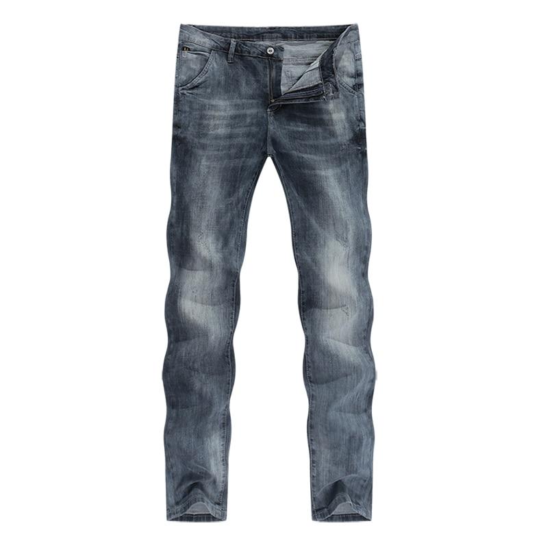 KSTUN mens jeans slim fit retro gray denim pants man 2020 summer thin grey vintage casual pants jeans male long trousers cowboys 11