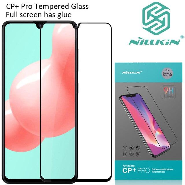Nillkin CP + プロ強化サムスンギャラクシー A41 保護疎油性フルスクリーン接着剤