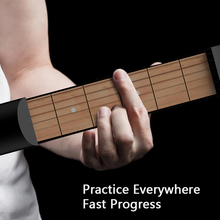 6 Fret Portable Guitar Chord Trainer Pocket-Guitar Practice Tools Musical Stringed Instrument for Beginner