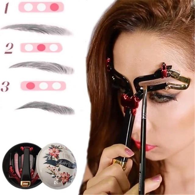 Adjustable Eyebrow Shapes Stencil 3 In 1 Portable Handheld Eyebrow Makeup Model Magic Eyebrow Shaping Template Drop Shipping