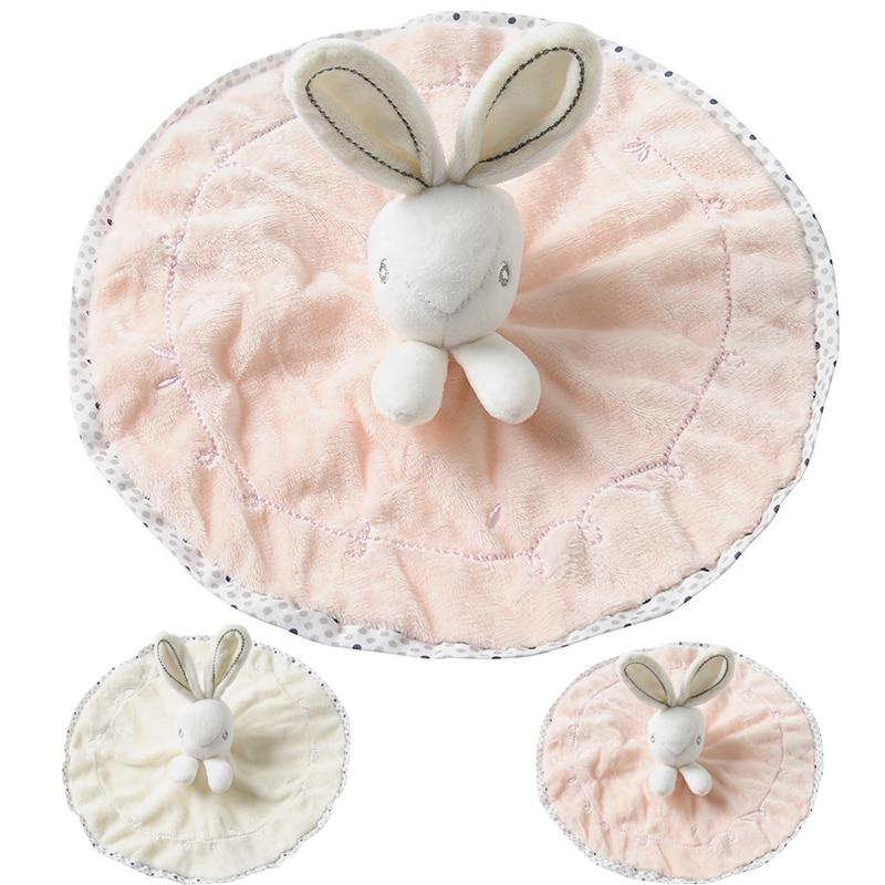 Soothing Baby Towel Cartoon Bunny Bear Plush Toy Towel Cute Bath Towel Super Soft Security Blanket Sleep Plush Doll Baby Care
