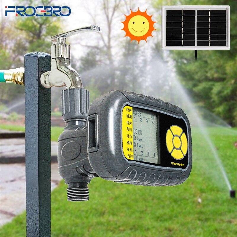 Frogbro controlador de irrigação do jardim inteligente automático temporizador água irrigação por gotejamento ao ar livre sistema rega plantas