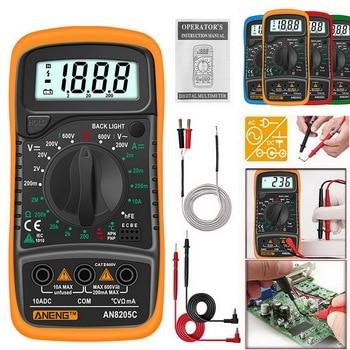 Multímetro Digital AN8205C, amperímetro de CA/CC, medidor de voltios y ohmios, multímetro...