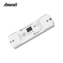 4CH DMX512 Decoder Constant Current PWM LED Controller 12V 24V 36V 48V DC Digital Display 4 Channel DMX 512 RDM Decoder D4C-L