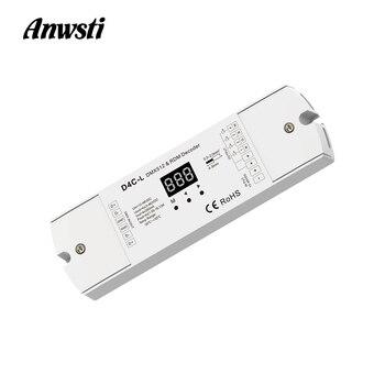 4CH DMX512 Decoder Constant Current PWM LED Controller 12V 24V 36V 48V DC Digital Display 4 Channel DMX 512 RDM Decoder D4C-L цена 2017