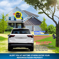 HTZSAFE 800 Meters Long Range Wireless Driveway Alarm Outdoor Weather-Resistant Motion Sensor&Detector DIY Security Alert System