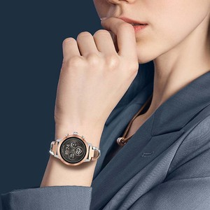 Image 5 - Diamond & Stainless Steel Watchband for Michael Kors Womens Access Runway / Sofie / Sofie HR Smart Watch Band Wrist Strap Belt