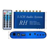 192khz USB DAC Optical Coaxial PC USB to RCA AV Audio Video Converter Adapter With Remote Control For Amplifier HDTV USB DAC