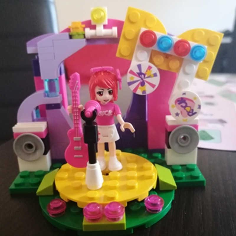 ENLIGHTEN City Friends ชุดเจ้าหญิง Pop Star สีสันวันหยุดเวทีแสดง Building Blocks ชุดของเล่นเด็กที่เข้ากันได้