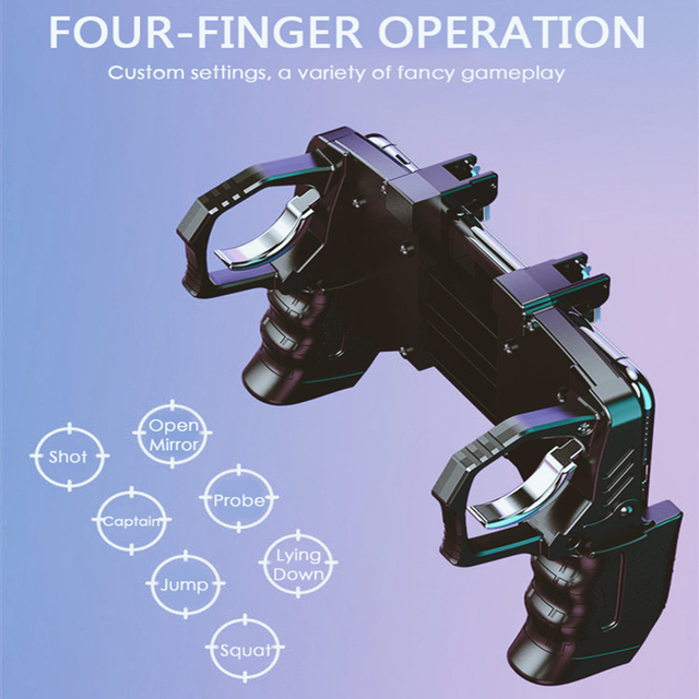 2020 Mobile Phone Gamepad Joystick PUGB Game Shooter Trigger Fire Button For IPhone Android phone gaming controller accessories 3