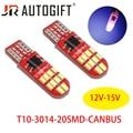 Светодиодсветодиодный лампы w5w T10 Canbus 20SMD 3014, 20 шт., для парковочных огней, внутреннего освещения, 12-15 в