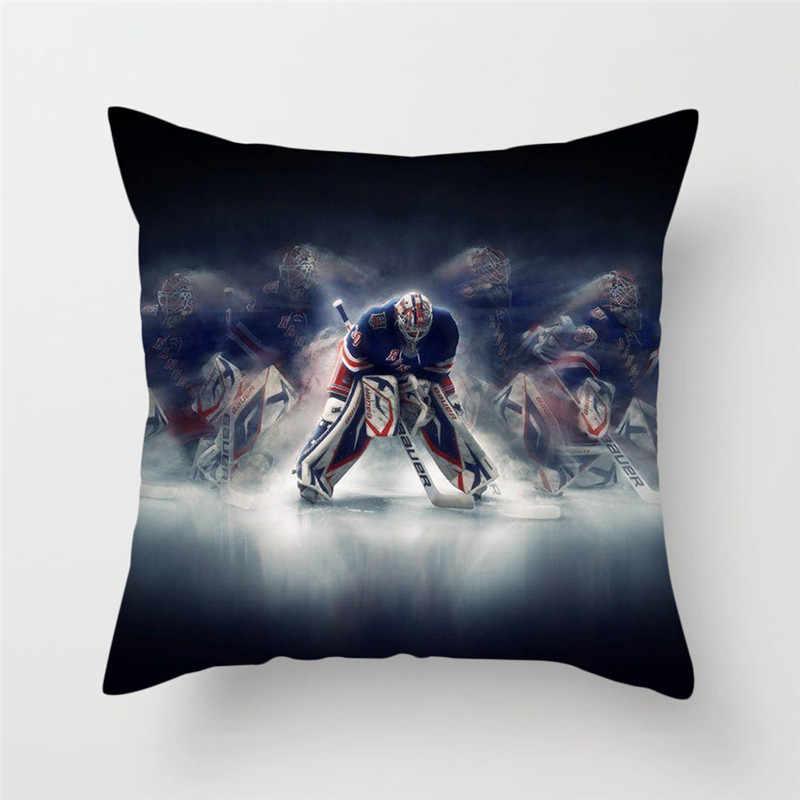 Fuwatacchi هوكي الجليد الرياضة غطاء الوسادة NHL الرياضة وسادة غطاء 45x45 سنتيمتر للمنزل أريكة سرير سيارة وسائد زينة يتم إلقاءها للتزيين 2019