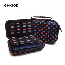EVA Electronic Storage Bag Case Protective Travel Carrying Case Cover For HDD SSD USB Data Cable 3DS XL/ 3DS XL Game Consoles